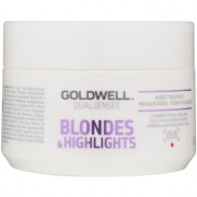 Goldwell Dualsenses Blondes & Highlights mascarilla regeneradora neutralizante para tonos amarillos 200 ml