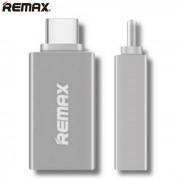 REMAX RE-OTG1 tipo-c a USB OTG adaptador para Android MAC OS - plata