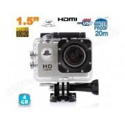 YONIS Caméra sport action étanche ECRAN 1.5'' HD 1080p grand angle 140° 4 Go