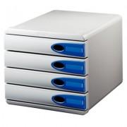 Suport documente, 4 sertare, albastru, LEITZ Allura