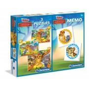 Puzzle Clementoni - The Lion Guard + Memo, 2x20/100 piese (57100)