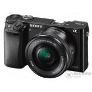Kit aparat foto digital Sony Alpha 6000 (cu obiectiv 16-50mm), negru