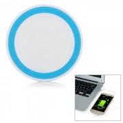 Plataforma cargadora sin cables para Samsung Galaxy S6 - Blanco Azul Luz
