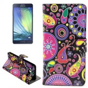 Acaleph Pattern Horizontal Flip Leather Case with Holder & Card Slots for Samsung Galaxy A7 / A700F