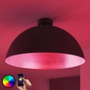 LED ceiling light Bowl WiFi 51cm black/silver