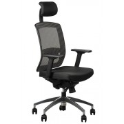 FOPOL - GN Office armchair GN-301/GREY with seat sliding system and aluminum base, swivel chair