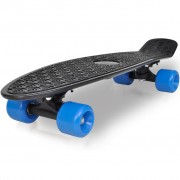 vidaXL Retro Skateboard with Black Top Blue Wheels 6,1""