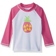 Flap Happy Bañador para niña (UPF 50+), diseño gráfico, Pineapple Breeze, 6