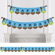 Big Dot Of Happiness Giraffe Boy - Birthday Party Bunting Banner Blue Decorations Happy