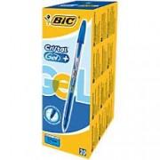BIC Cristal Gel+ Rollerball Pen Medium 0.4 mm Blue Pack of 20