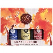 Woolzies Cozy Fireside Essential Oil Gift Set Of 3 Vanilla Sandalwood Cedarwood 10 ML each