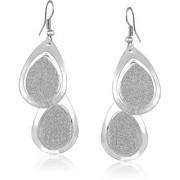 VK Jewels Tear Drops Rhodium Plated Alloy Drop Earring Set For Women & Girls- ERZ1775R [VKERZ1775R]