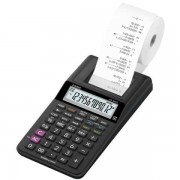 Mini calcolatrice scrivente HR-8RCE-WE con batteria, adattatore AC opzionale - R00630 nero - HR-8RCE-BK blister