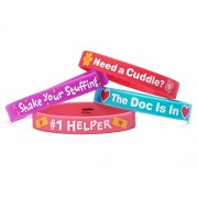 "Doc McStuffins Rubber Wristbands Birthday Party Accessory Favours Pack (4 Pack), Multi Color, 2 1/2"" x 7/16""."