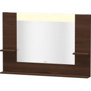 Duravit Vero - Miroir avec éclairage LED 1200mm brushed walnut / mirrored