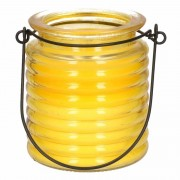 Merkloos 1x Geurkaarsen citroen anti muggen in geel glas