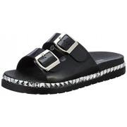 Nine West Women's Black Sandal Flats - 5 UK/India (37.5 EU)(7 US)