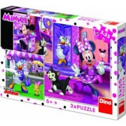 Puzzle 3 in 1 Dino Toys O zi cu Minnie 55 piese Multicolor