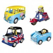 Set 4 figurine cu masinuta Minions Despicable Me