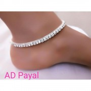 American Diamond Silver Anklets American Diamond Anklets Online