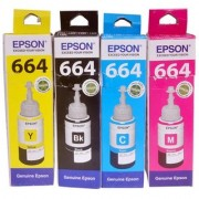 Original Epson 664 ink Colour Toner For Epson L Series Printers Set Of 4