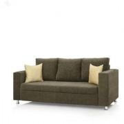 Earthwood - Fully Fabric Upholstered Three-Seater Sofa - Premium Valencia Camel