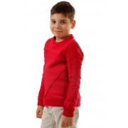 Bluza rosie patchwork pentru copii