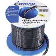 Cablu dublu PVC H03VH-H, la pachet, 2 x 0,75 mm², 20 m, alb