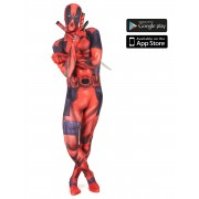 Disfarce Morphsuits Zapper Deadpool adulto - M (no máximo 160 cm)