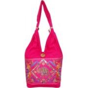 Womaniya Handicraft Jholabag Pink Shoulder Bag