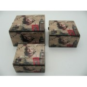 Marilyn Monroe üveg doboz 3 db