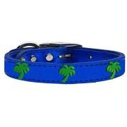 Mirage Pet Products 83-108 BLM22 Collar para Perro de Piel metálico auténtico, Talla 22, Color Azul