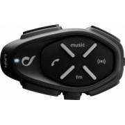 Sistem de comunicare moto Interphone Link Single Pack FM Conferinta de pana la 2 rideri simultan distanta 300m