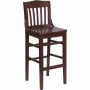 Flash Furniture Wood Bar Stool with School House Back - Mahogany Finish, 800-Lb. Capacity, Model XUDGW0006BARMAH