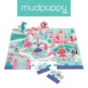 Mudpuppy Puzzle zamek i księżniczki - zestaw z 8 figurkami Księżniczka 3+,