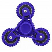 Engranajes Fidget Spinner Toy Reductor De La Tension Anti - Ansiedad De Juguete Para Niños Y Adultos, 4 Minutos Tiempo De Rotacion Del Acero, Pequeñas Perlas Teniendo + Abs Material (azul Oscuro)