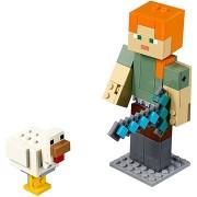 LEGO Minecraft 21149 Minecraft BigFig Alex csirkével