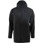 Rains Short Coat regenjas unisex Kleur: zwart, Maat: M-L zwart