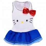 Barbie ruhák karakterekkel - Hello Kitty fehér fodros tunika