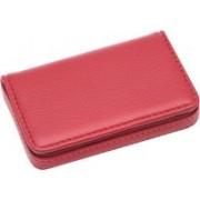 Flipkart SmartBuy Red Business Card Holder Luxury PU Leather Wallet Credit Cards ID Case/Holder for Men & Women 8 Card Holder(Set of 1, Red)