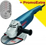 BOSCH GWS 24-230 JH Polizor unghiular 2400 W, diametru disc 230 + 5 discuri Best for Inox Rapido 230x1.9