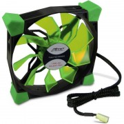 Ventilator Inter-Tech CobaNitrox Xtended N-120-GR 120mm Green LED