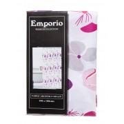 Emporio Fuschia Flower Shower Curtain