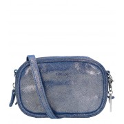 LouLou Essentiels Clutches Clutch Sparkling Suede Blauw