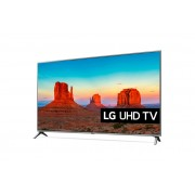 "LG 55UK6500MLA LED TV 55"" Ultra HD, WebOS 4.0 SMART, T2, Silver, Two pole stand"