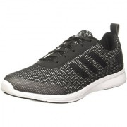 Adidas Men's Black Gray Lace-up Training Shoes