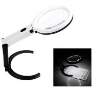 2.5X90mm 8X25mm 10 LED Folding Lamp Magnifier Magnifying Glass Microscope - 61