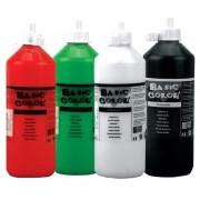Merkloos Voordeel set van 4x kleuren plakkatverf waterbasis van 4x 500 ml