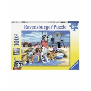Puzzle Catelusi Pe Plaja, 100 Piese Ravensburger