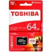 Card Memorie Toshiba Exceria MicroSDHC 64 GB Clasa 10 Adaptor SD 90MB/s